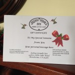 mendocino bed and breakfast gift certificates